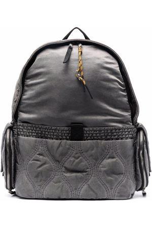 Diesel HARI garment-dyed stitch-detail backpack - Grey