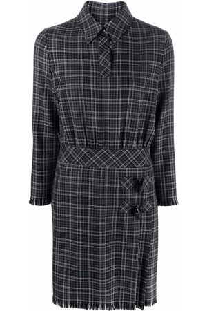 Moschino Women Casual Dresses - Check-print shirt dress - Grey