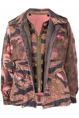 Diesel Women Bomber Jackets - W-Clea layered bomber jacket