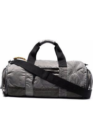 Diesel Men Luggage - OWLE stitch-detail garment-dyed duffle bag - Grey
