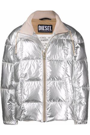 Diesel Men Puffer Jackets - W-Olf metallized puffer jacket