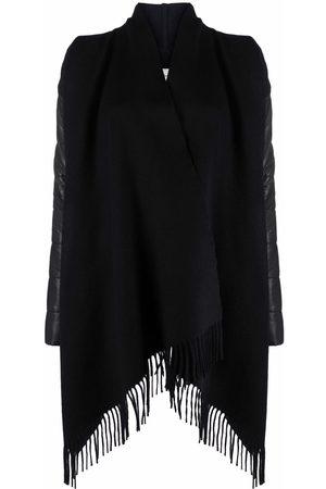Woolrich Women Ponchos & Capes - Asymmetric fringed jacket