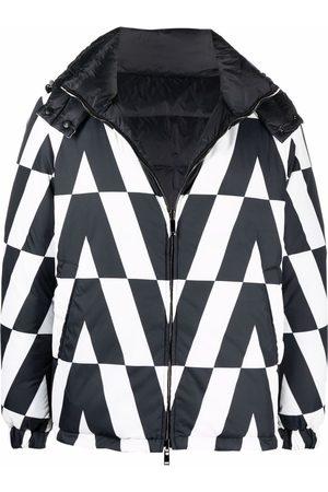 VALENTINO Men Puffer Jackets - Monogram-print padded jacket