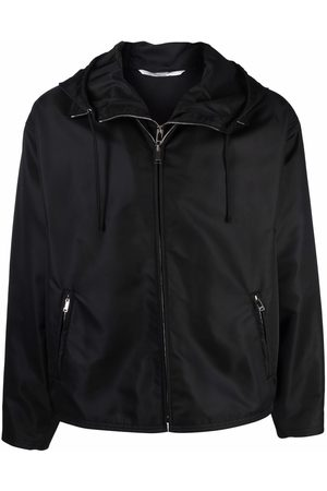 VALENTINO Men Jackets - Dual zip-detail hooded short jacket