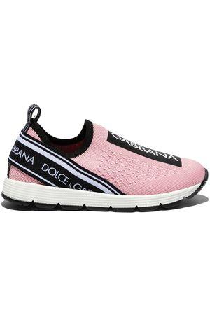 Dolce & Gabbana Girls Flat Shoes - Sorrento slip-on sneakers
