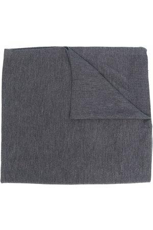 Aspesi Buttoned rib-knit scarf - Grey