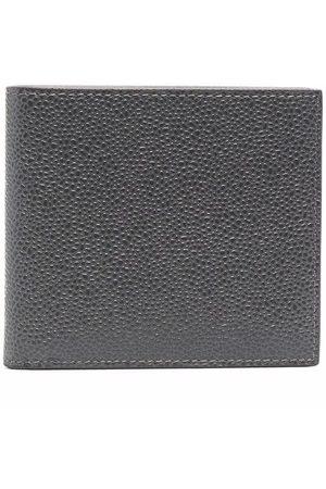 Thom Browne Men Wallets - Grained bi-fold wallet - Grey