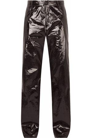 Dolce & Gabbana Men Straight Leg Pants - Metallic-effect straight-leg trousers
