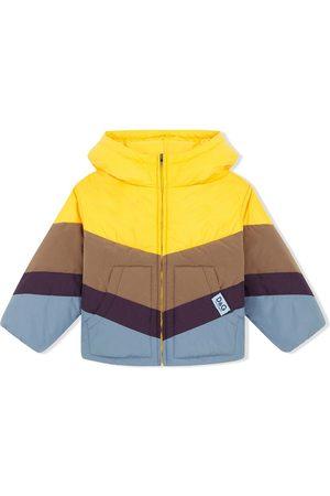 Dolce & Gabbana Boys Puffer Jackets - Colourblock-panel padded coat