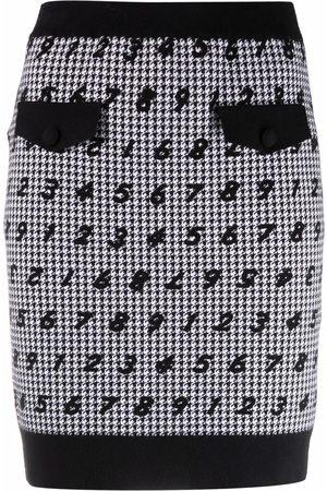 Moschino Women Printed Skirts - Numbers-print skirt