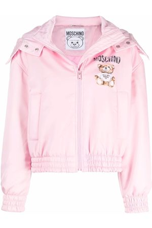 Moschino Women Fleece Jackets - Teddy Bear-print hooded jacket