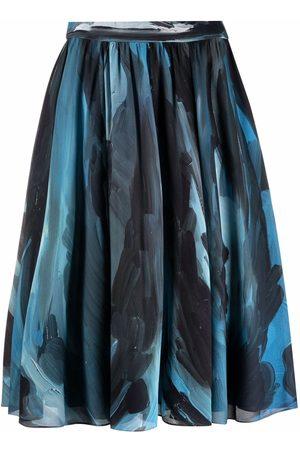 Moschino Women Printed Skirts - Brush-stroke print skirt