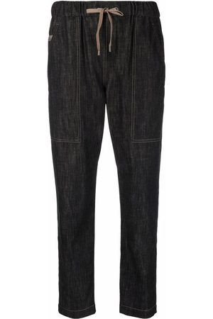 Brunello Cucinelli Women Tapered - Drawstring tapered-leg jeans