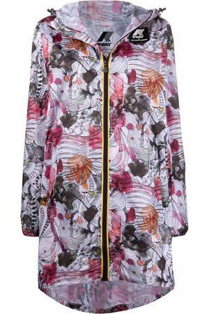 K-Way R&D Floral-print hooded parka