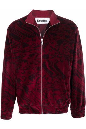 Etudes Men Sweatshirts - Major velvet zipped sweater