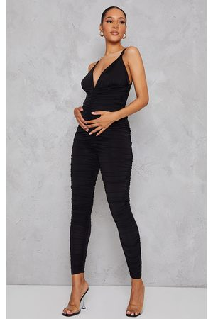 PRETTYLITTLETHING Women Jumpsuits - Maternity All Over Ruched Jumpsuit