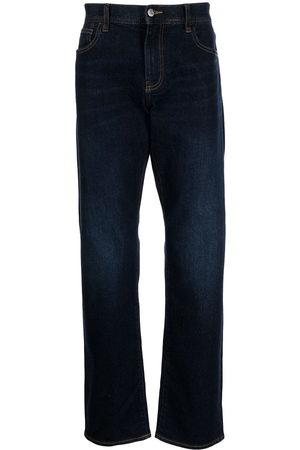 Armani Men Straight - Logo patch straight-leg jeans