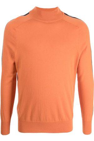 N.PEAL Men Sweatshirts - Fine-knit striped-edge jumper