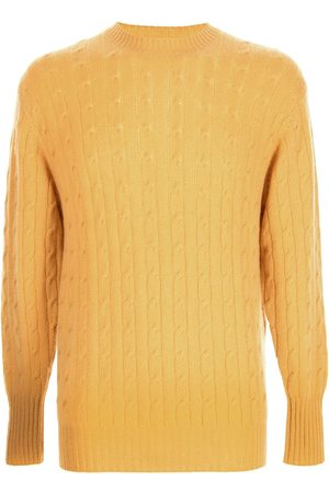 N.PEAL Men Sweatshirts - The Thames cable-knit jumper