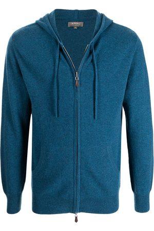 N.PEAL Men Hoodies - Zipped cashmere hoodie