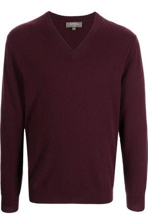 N.PEAL Men Sweatshirts - V-neck cashmere jumper