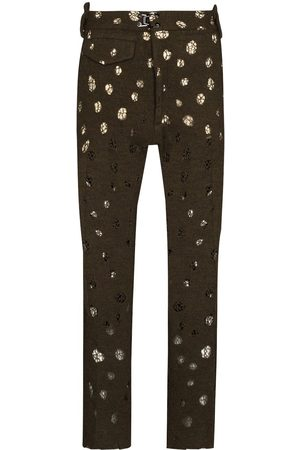 Pronounce Men Formal Pants - Distressed-effect tailored trousers
