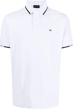 Emporio Armani Men Polo Shirts - Logo-embroidered short-sleeve polo shirt