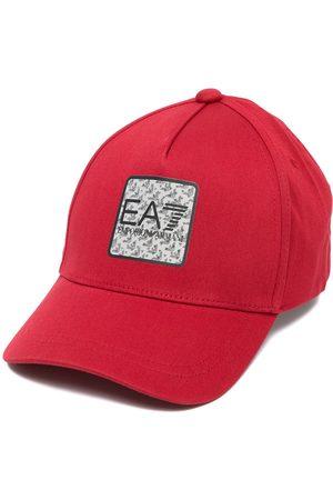 EA7 Men Caps - Logo-patch cotton cap