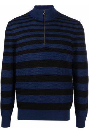 Salvatore Ferragamo Striped half-zip jumper