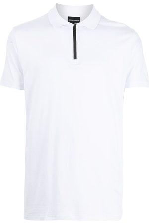 Emporio Armani Men Polo Shirts - Half-zip polo shirt