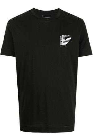 Emporio Armani Men Sweatshirts - Logo-print crewneck T-shirt