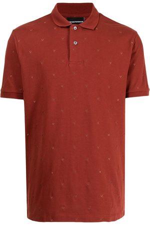 Emporio Armani Micro-eagle embroidered-logo polo shirt