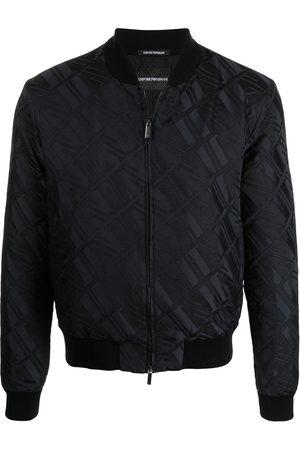 Emporio Armani Men Bomber Jackets - Jacquard logo bomber jacket
