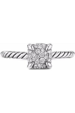 David Yurman Women Rings - Sterling petite Châtelaine pave diamond ring