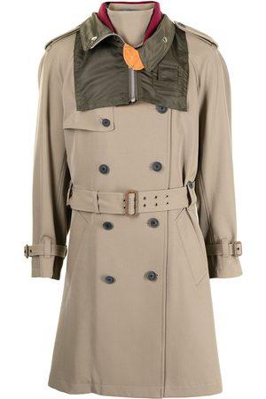 Kolor Men Trench Coats - Belted-waist trench coat