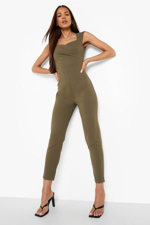 Boohoo Womens Sweetheart Ruched Tailored Jumpsuit - - 6