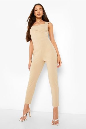 Boohoo Womens Sweetheart Ruched Tailored Jumpsuit - - 4