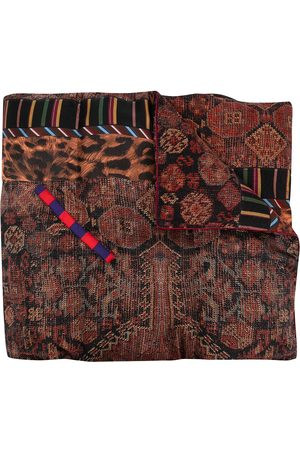 PIERRE-LOUIS MASCIA Quilted mix print scarf