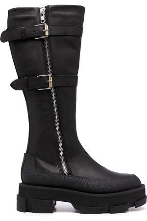 DION LEE Gao buckled mid-calf boots