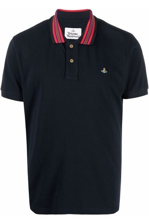 Vivienne Westwood Classic logo-embroidered stripe-collar polo shirt