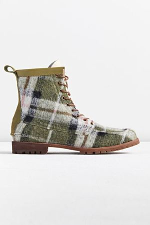 Urban Outfitters Men Lace-up Boots - UO Wool Plaid Lug Boot