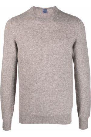 FEDELI Men Sweatshirts - Marled cashmere jumper - Neutrals