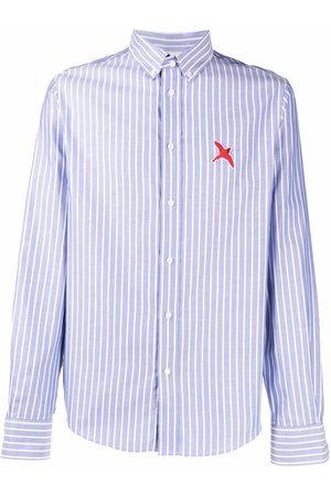 Axel Arigato Men Shirts - Embroidered pinstripe shirt