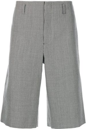 Comme des Garçons Men Bermudas - Micro houndstooth Bermuda shorts