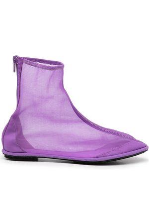 Samuel Gui Yang Women Ankle Boots - Mesh zip-up ankle boots