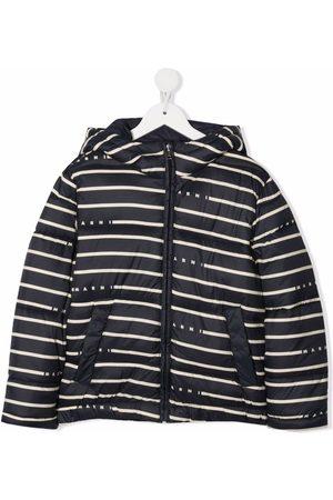 Marni Girls Puffer Jackets - Striped padded jacket