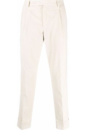 PT01 Pleated straight-leg trousers - Neutrals
