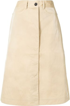 REMAIN Women Midi Skirts - Midi denim skirt