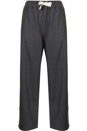 SOFIE D'HOORE Women Straight Leg Pants - Cropped straight-leg trousers - Grey