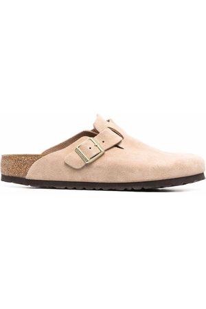 Birkenstock Men Slippers - Boston buckled slippers - Neutrals